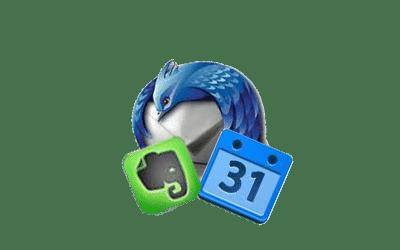 Thunderbird + Evernote + Google Calendar