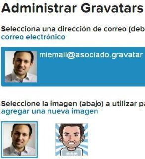 Selección de imagen en Gravatar para que salga en buscadores
