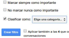 Filtro nueva bandeja de entrada gmail