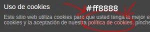 asesor de cookies wordpress color rosa