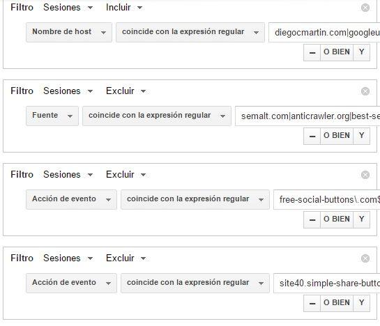 referral spam segmento Analytics