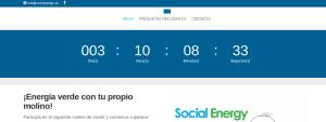 social energy landing y publi online