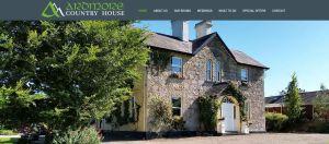 Cabacera de la página web del proyecto de posicionamiento en buscadores Ardmore House Irlanda