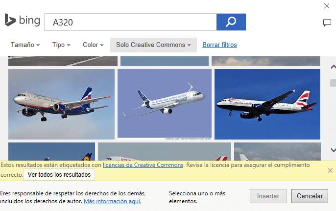 Insertar imágenes en línea con Office