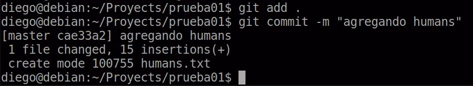 19 git add y commit tras eliminación mediante git