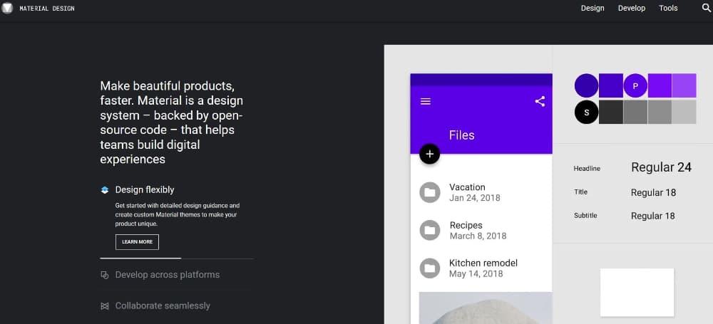 inicio material design