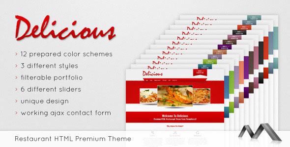 Delicious - Premium Restaurant Theme