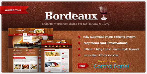 Bordeaux - Premium Restaurant Theme