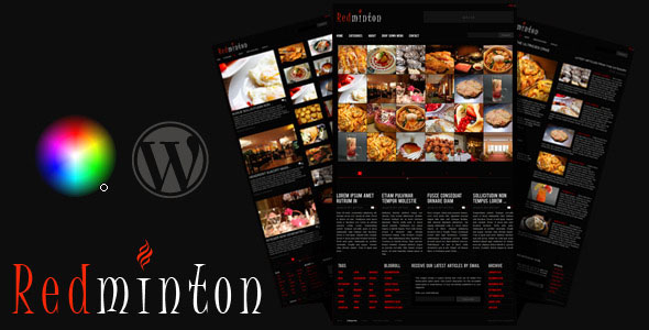 Redminton - Restaurant WordPress Theme