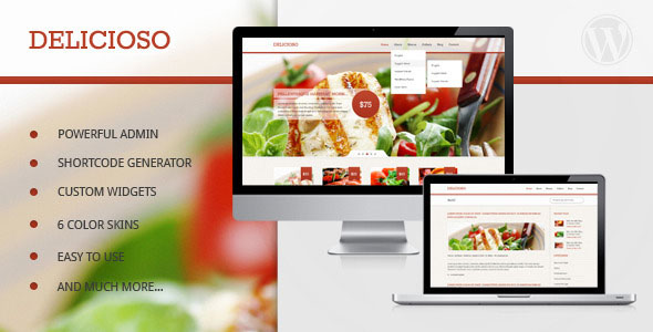 Delicioso - Delicious WordPress Restaurant Theme