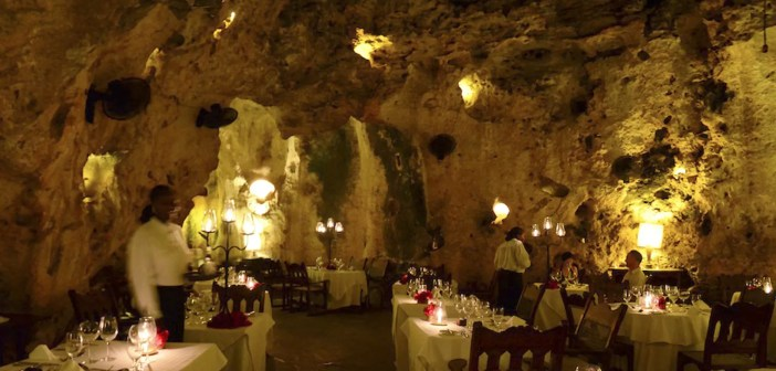 Ali-Barbour-restaurant in a cave- Kenya