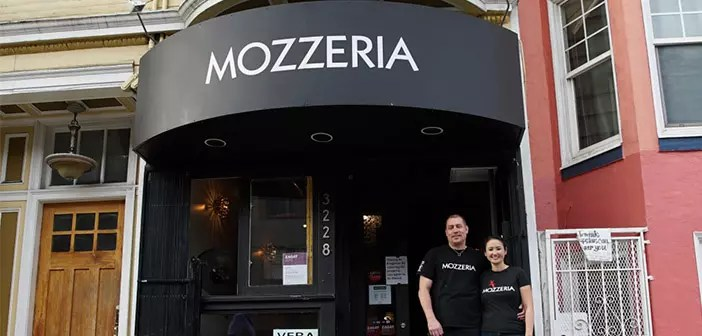 Melody and Russell Stein are the owners of Mozzeria
