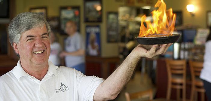 George Dimopoulos chef du restaurant et de la solidarité