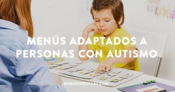 Menús con pictogramas adaptados a personas con autismo