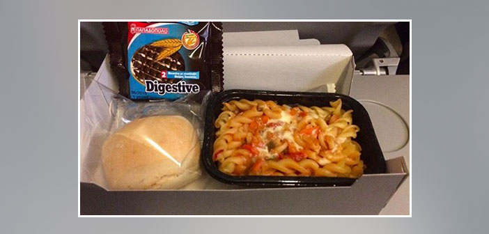 Aegean-Airlines---Dinner-in-economy-class