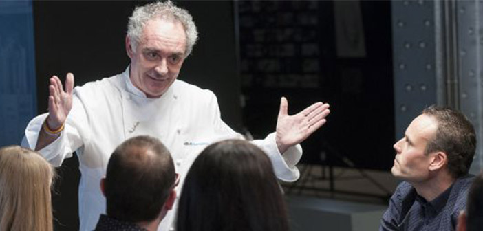Ferran Adrià explica su proceso creativo en un mini Bulli