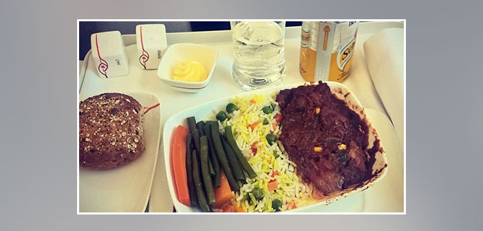 Kenya-Airlines---Dinner-in-business-class