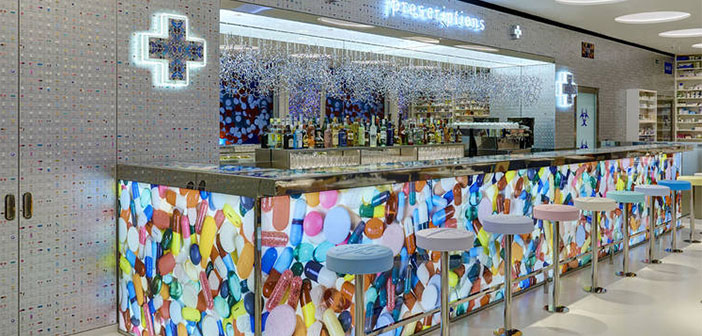 Damien Hirst designer returns with Pharmacy2 chef Mark Hix next to