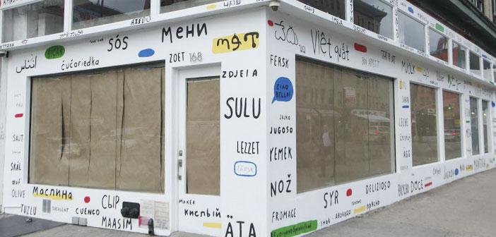 L'objectif principal de ce restaurant est de faire connaître la dernière mise à jour Google Translate.