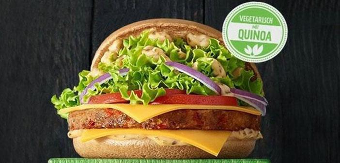 Sur les hamburgers géants européens du continent, il a également commencé à répondre aux besoins de la population végétarienne.