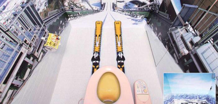 Esquiar en el baño