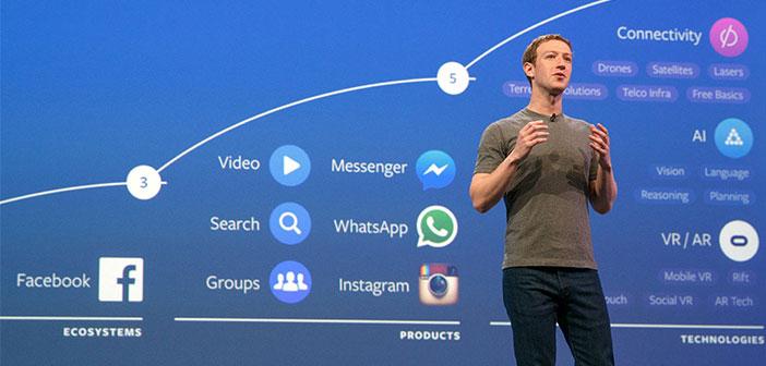 Mark Zuckerberg Facebook créateur en action.