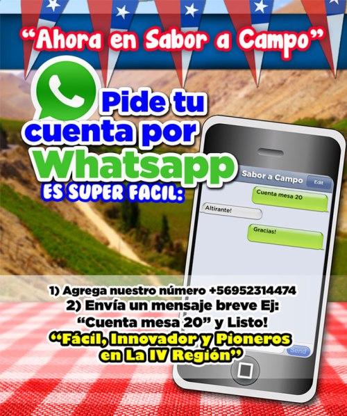 Promotion de demander au compte WhatsApp