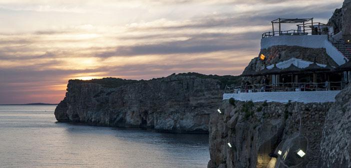 Restaurante Cova d'en Xoroi en Menorca