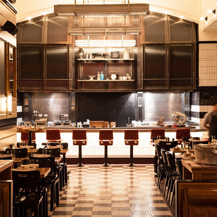 The Kingside restaurant in New York is a good example of how to convey in images.