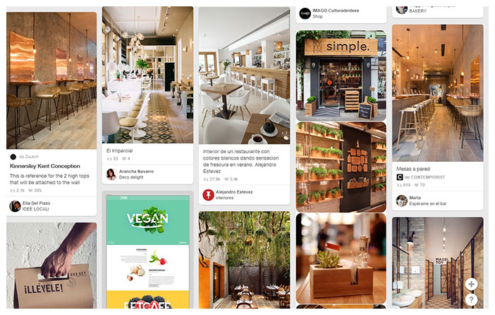 Pinterest has no place in images of low or medium quality taken with the mobile phone that sometimes users post on Facebook, Twitter the included Instagram.