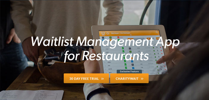 CharityWait which is an option included in SmartLine, an application for managing queues at restaurants. It allows customers to skip the queue and have your table ready before anyone, You cant strain!