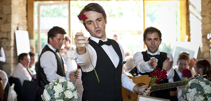 Waiters also perform normal service a show like The Singing Waiters in UK.