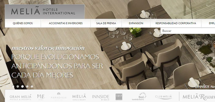 The giant Meliá, world leader in hotel complexes, and leader in the markets of South America and the Caribbean, with hotels and resorts.