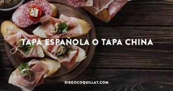 Tapa española o tapa china
