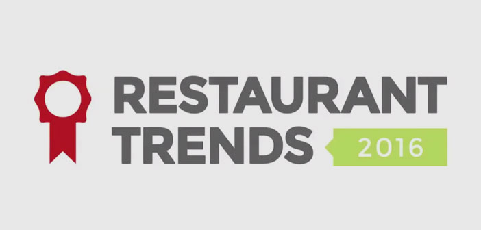 The 9 most important ideas that were discussed at the Restaurant Trends 2016