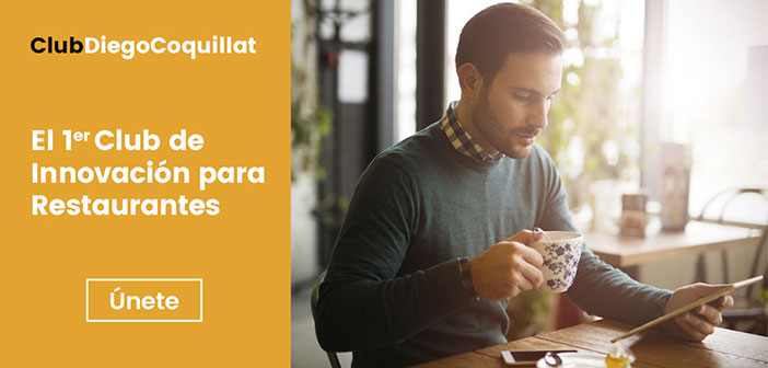 ClubDiegoCoquillat, the first International Innovation Club for Restaurants, born with the aim of providing a space capable of combining digital information, resources and training around innovation in the restaurant industry.