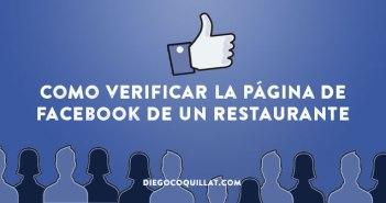 Como verificar la página de Facebook de un restaurante