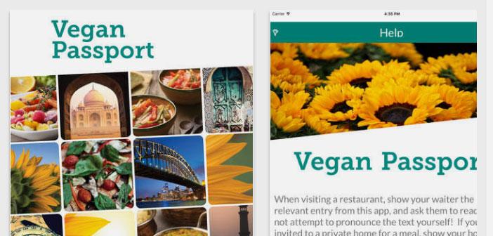 lorsque vous voyagez, Il est bon d'avoir Veggie Passport, une autre application d'Apple qui permet de savoir quel genre de nourriture et d'ingrédients devrait demander si vous êtes végétalien.