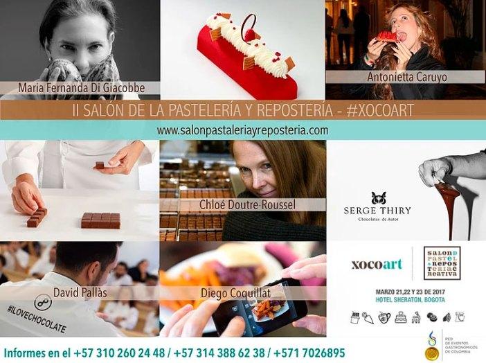 XocoArt, el II Salón de Pastelería y Repostería Creativa que se celebra durante los días 21, 22 y 23 de marzo en el Hotel Sheraton de la calle 26.