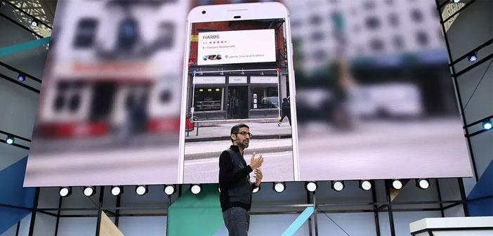 PDG de Google, Sundar Pichai a annoncé il y a quelques jours à l'entreprise de la conférence annuelle des développeurs, la dernière nouveauté de la plate-forme. A partir de maintenant nous pouvons obtenir toutes les informations que nous voulons d'un restaurant, rue d'affaires ou un monument tout en montrant avec notre caméra mobile.