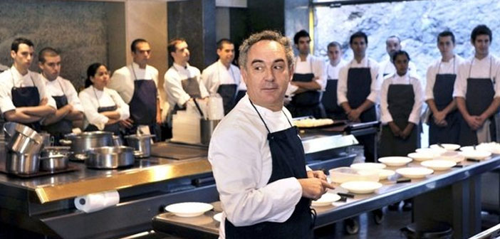 Ferran Adrià, They have been interested in the qualities of this type of food. Without going further, El Bulli available a special menu 35 vegetarian dishes which hosted, at the time, rave reviews.