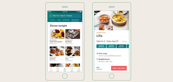 Este servicio de reservas en restaurantes es posible gracias a la colaboración con la app de reservas Resy, la cual se ha integrado a la perfección en Airbnb.