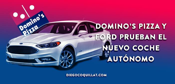 Domino's Pizza y Ford prueban el nuevo coche autónomo de reparto de comida a domicilio