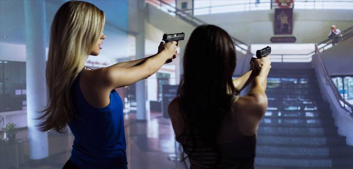 Podrán escoger entre juegos con escenarios militares realistas, o situaciones policíacas con acción para adentrarse en medio de un tiroteo mientras esperan los aperitivos.