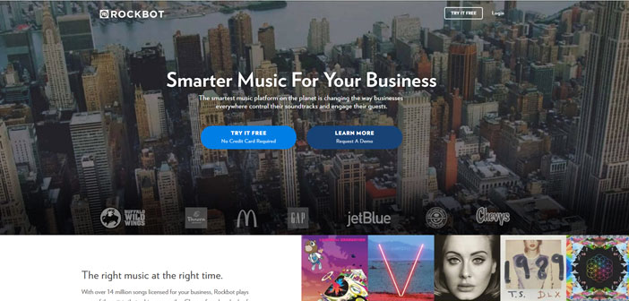 Rockbot, a platform that has millions of songs and has the ability to detect the arrival of a particular customer to the local, I making music that sounds at that moment is one of the favorite newcomer.