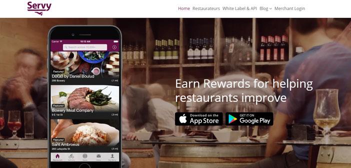Tan interesante como las anteriores es Servy, una aplicación de notable éxito en Nueva York y en la que los inscritos realizan constantes comentarios valorando el servicio que ofrecen los restaurantes.
