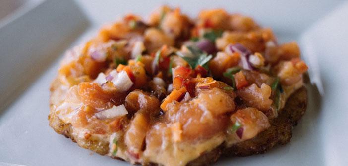 El pizzushi, un híbrido entre pizza y sushi, que está cautivando a los usuarios de medio mundo.