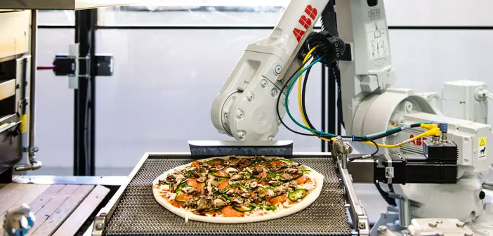 Juice Pizza is a chain of restaurants that have started using robots and artificial intelligence to produce 372 pizzas when. This pizzeria serves throughout California relying on UberEats to make deliveries.