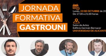 Gastrouni celebra una nueva jornada formativa gratuita el 23 de octubre en la Universidad de Alicante
