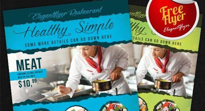 Food-Restaurants-Free-Flyer-PSD-Template